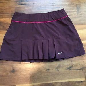 Nike Tennis/Running Skirt Small Burgundy / Maroon
